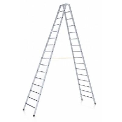 R13 step B stojací žebřík, eloxovaný