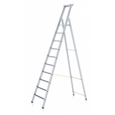 R13 step S stupňový stojací žebřík, eloxovaný
